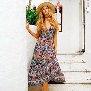 ARNHEM Spanish Rose Wrap Midi Dress